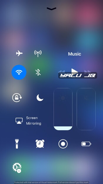 Glacier - New Ios Control Center