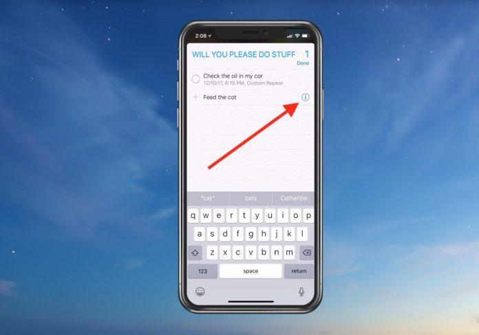Reminders in iOS