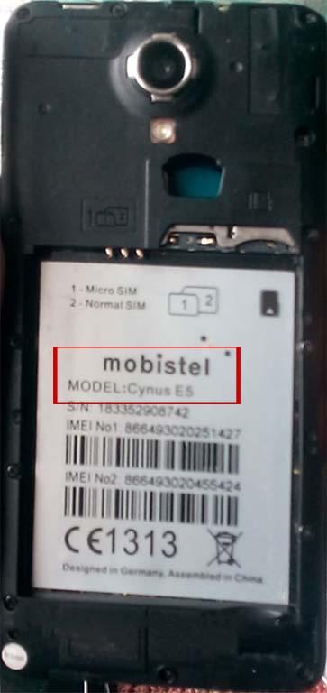 Mobistel Cynus E5 Flash File