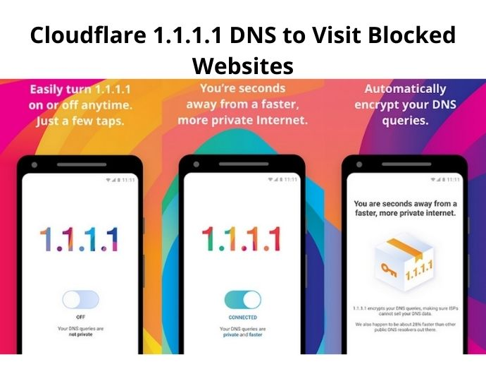 Cloudflare 1.1.1.1 DNS to Visit Blocked Websites