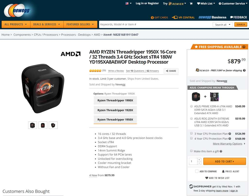 amd ryzen threadripper 1950x price drop