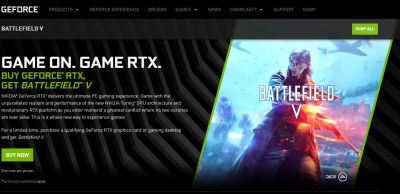 NVIDIA GeForce RTX Battlefield V bundle