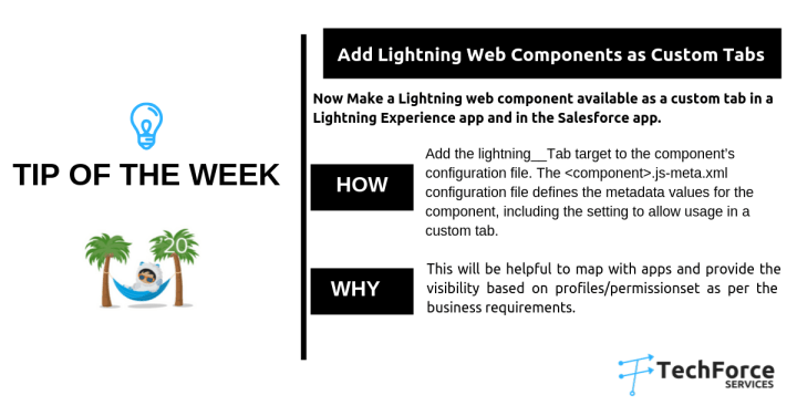 Salesforce  weekly Tips add lightning web