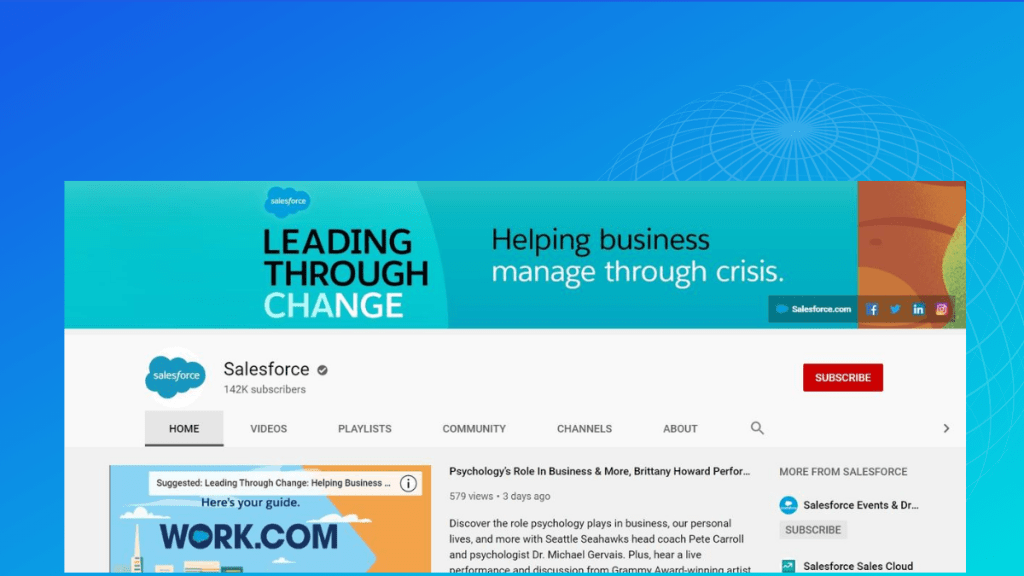 Salesforce youtube channel