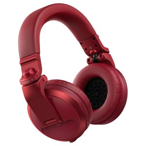 Pioneer HDJ-X5BT Bluetooth DJ Headphones, Red