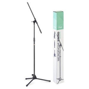 Stagg MIS-0822BK Microphone Boom Stand with Folding Legs