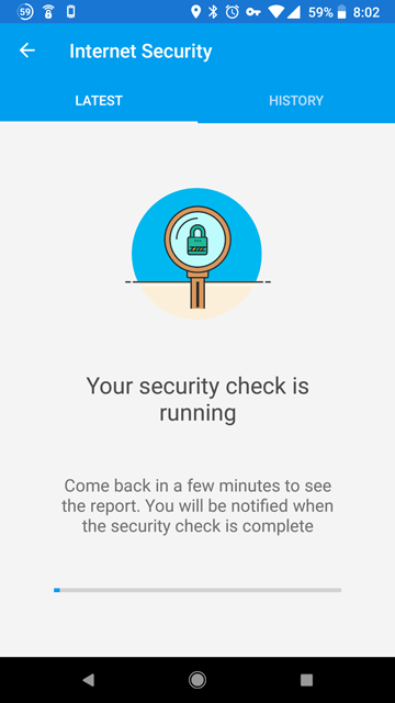 Fingbox security check