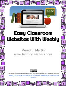 2014 Classroom Websites with Weebly