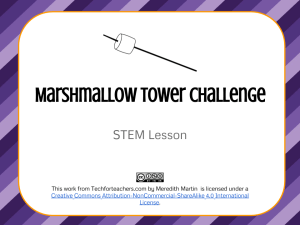 STEM - Marshmallow Tower Lesson