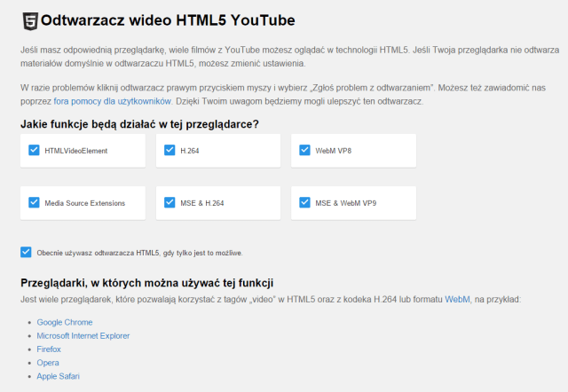 HTML5 Youtube
