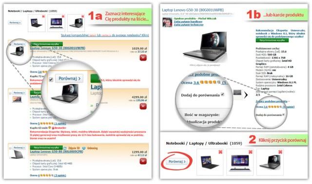 Porównanie laptopów