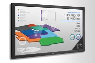 Nec MultiSync TM, tre nuovi display multi-touch di grandi dimensioni