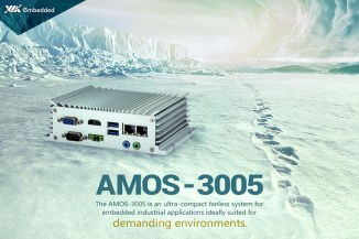 VIA AMOS-3005, PC fanless per uso industriale