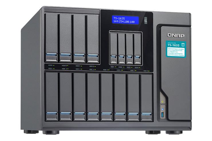 QNAP TS-1635, supporto cache SSD esteso e performance da primato