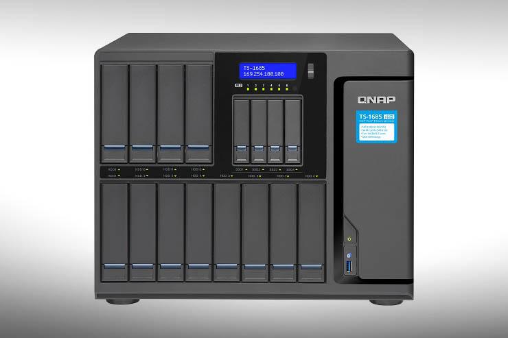 QNAP TS-1685, il super NAS con CPU Xeon D e 16 bay