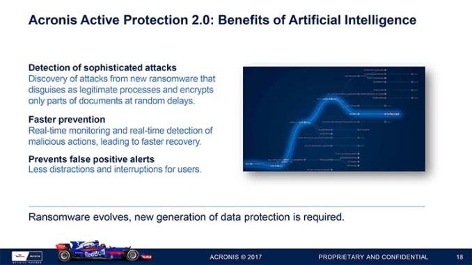 Acronis True Image 2018, dati al sicuro con l'AI