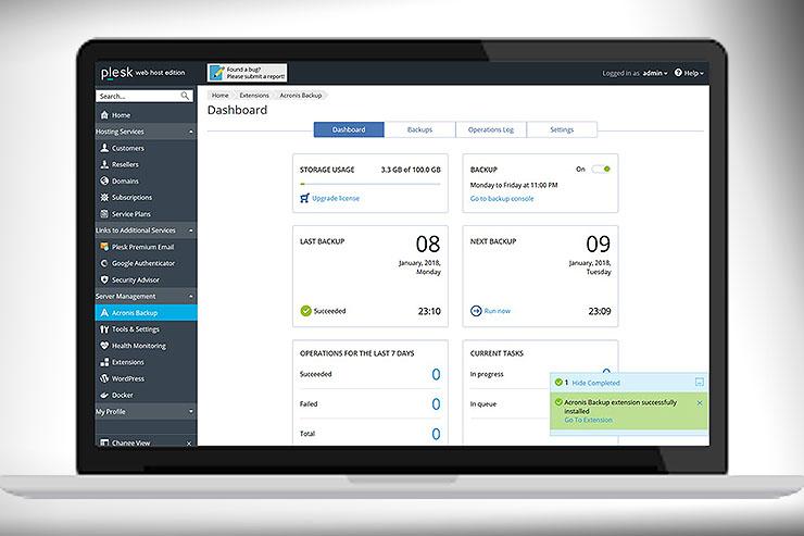 Partnership Acronis-Plesk, web hosting al sicuro