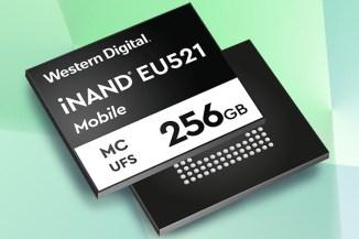 WD iNAND MC EU521, tecnologia UFS e velocità per il mobile