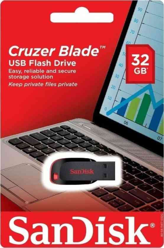 SanDisk USB 2.0 Cruzer Blade 32GB