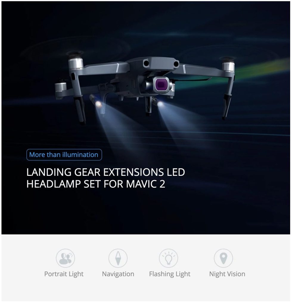 Landing Gear Extensions LED Headlamp Set