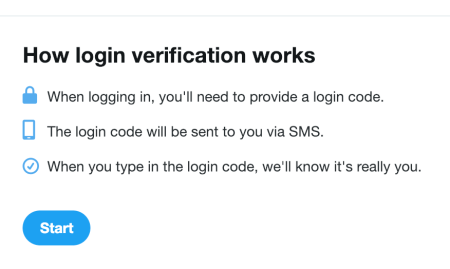 Twitter verification box
