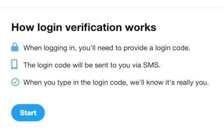 Twitter verification box