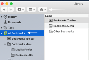 Firefox Library window
