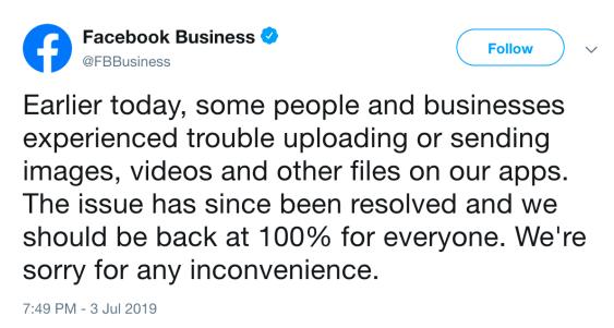 Facebook July 2019