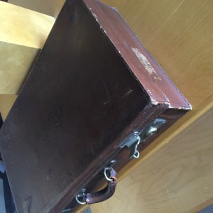 Antique Luggage Side View
