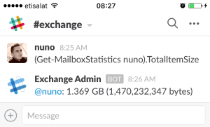 Exchange Reporting using Slack
