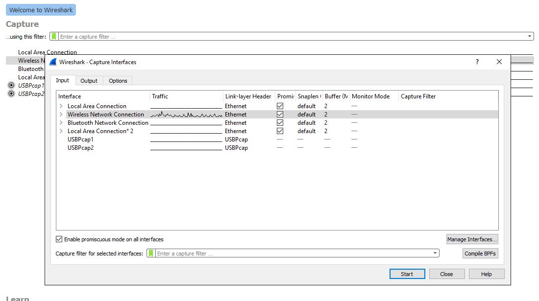 Wireshark Windows GUI