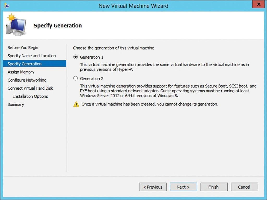 Hyper-V VM Generations & Versioning