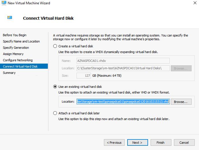 Connect virtual hard disks