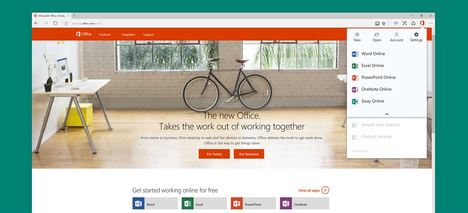 Browser-based Microsoft Office apps