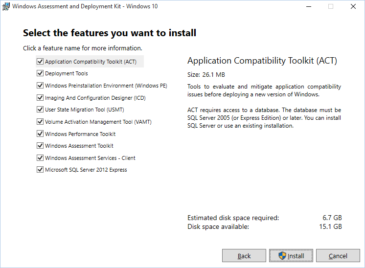 Windows Assessment and Deployment Kit for Windows 10