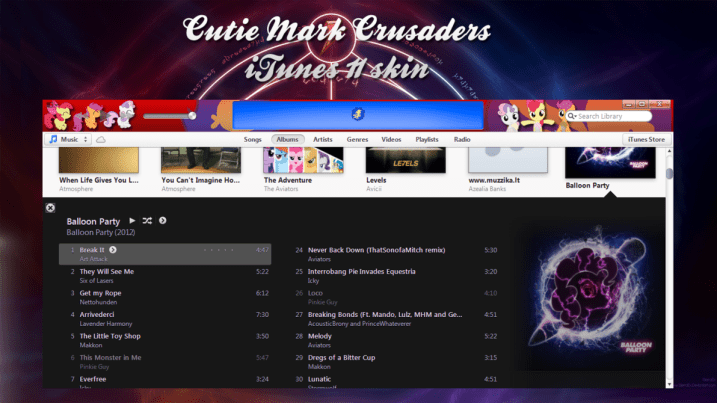 itunes-11-skin-cutie-mark-crusaders