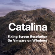 fix macos catalina screen resolution on VMware on windows