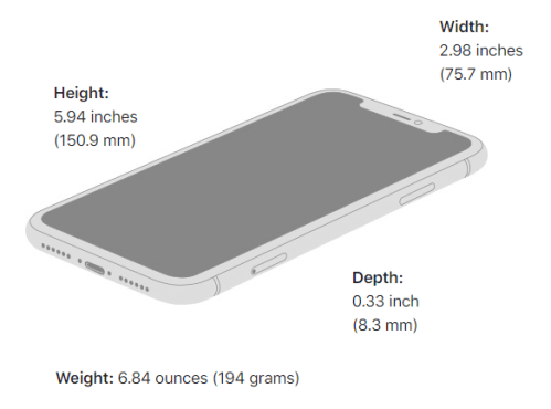Apple's Size and weight