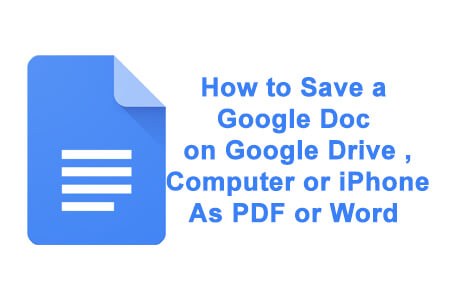how to save a google doc