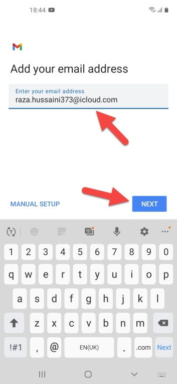 Set Up an iCloud Account on Android Device