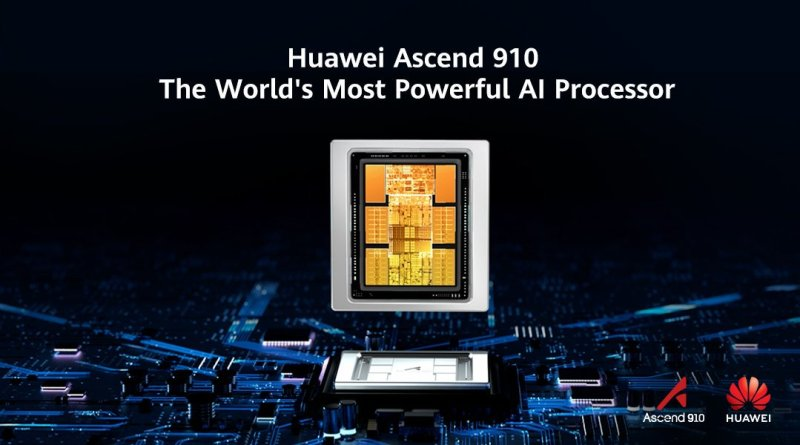 Huawei Launches Ascend 910, Claimed to Be 'World's Most Powerful AI Processor'