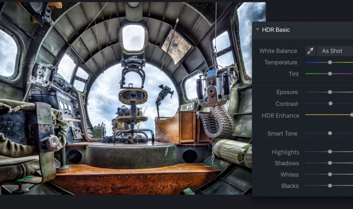 The interface of Aurora HDR update 1.2.0