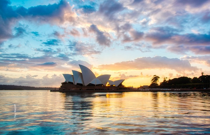 The picture of the Sydney opera house processed with Aurora HDR 2019
