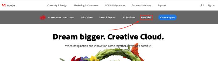 adobe creative cloud free download