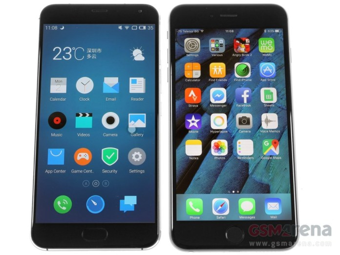 Meizu Pro 5 vs iPhone 6S Plus