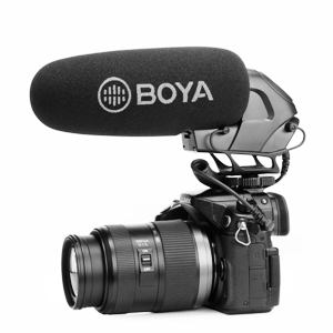 Super-Cardioid On-Camera Video Shotgun Microphone, BOYA BY-BM3032 Broadcast Condenser Interview Capacitive Microphone Camera Video Mic for Canon Nikon Sony
