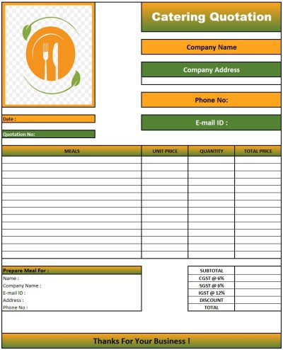 Quotation Format For Website Development In Excel , Download Quotation Format in Excel