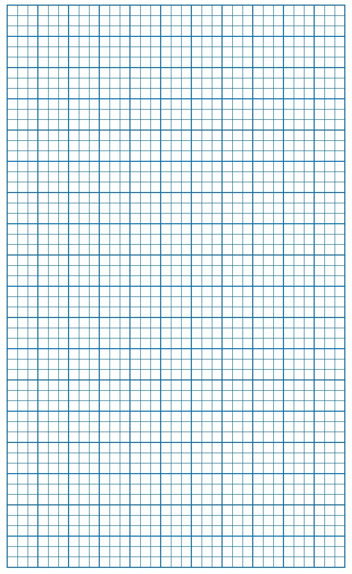 Graph Paper Blue Lines with border