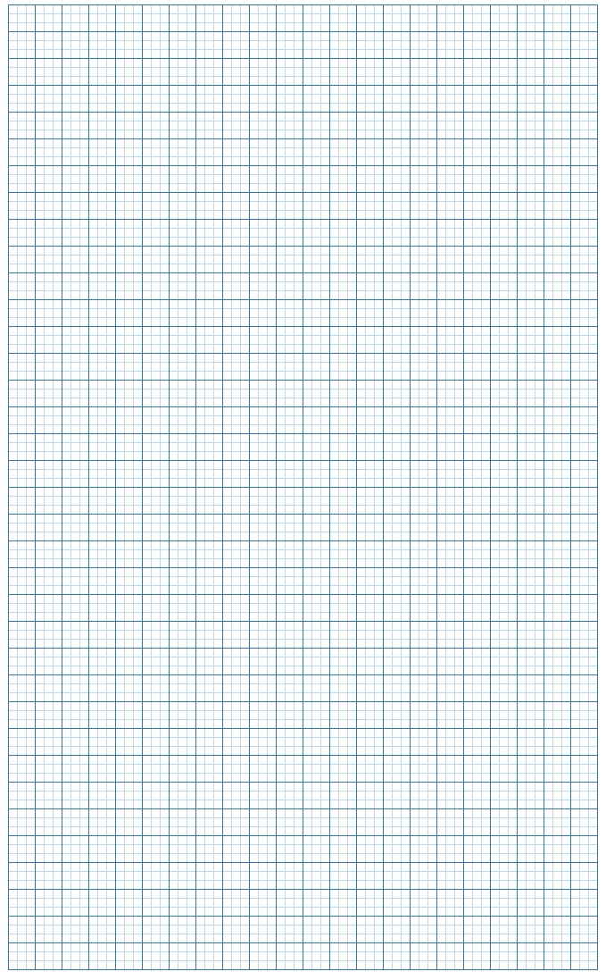 Graph Paper Light Blue Lines with border Small Block