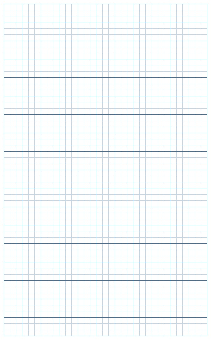 Graph Paper Light Blue Lines with border